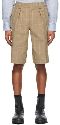 Jacquemus Beige Le Short Quadri Shorts
