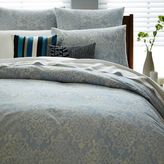 west elm Organic Scroll Arabesque Duvet Cover - Moonstone