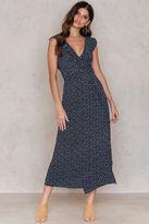 Flounce Overlap Front Dress