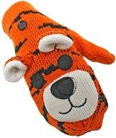 Luxury Divas & Black Tiger Adorable Animal Knit Mitten Gloves