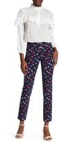 Rebecca Taylor Sakura Floral Print Skinny Pant
