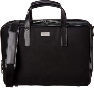 Gucci Black Gg Canvas & Leather Briefcase