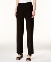 Eileen Fisher SYSTEM SYSTEM Washable Crepe Straight-Leg Pants, Regular & Petite