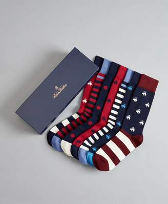 Brooks Brothers The All-American - Seven-Pair Socks Gift Set