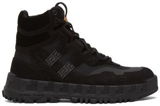 Versace Black Nubuck Hiking Boots