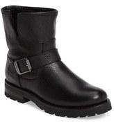 Frye Women's Natalie Genuine Shearling Water Resistant Engineer Boot