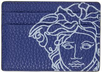 Versace Blue Pop Medusa Card Holder