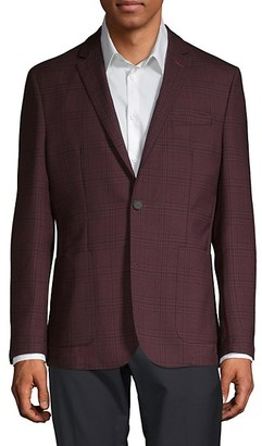 Vince Camuto Plaid Wool-Blend Sportcoat