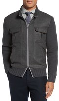Eleventy Men's Zip Wool Blend Sweater Jacket