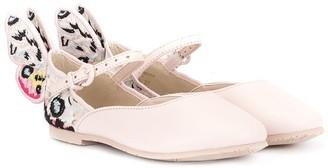 Sophia Webster Mini Rainbow Butterfly ballerina shoes
