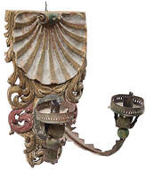 One Kings Lane Vintage Carved Shell Candle Sconce