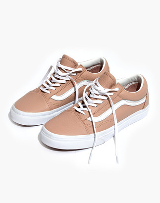 Madewell Vans Unisex Old Skool Lace-Up Sneakers in Pink Leather