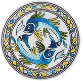 Le Cadeaux Catalina Round Dinner Plate - Blue