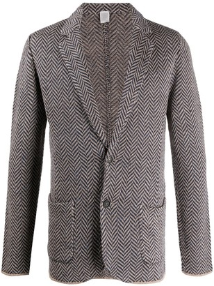 Eleventy Herringbone-Pattern Blazer