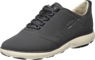 Geox Womens D Nebula a Low-Top Sneakers Grey (Dk Grey) 3 UK (36 EU)