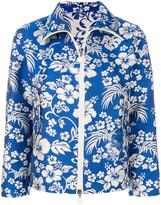 Moncler cropped floral print jacket