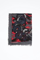 Zadig & Voltaire Delta Manga Camou Scarf