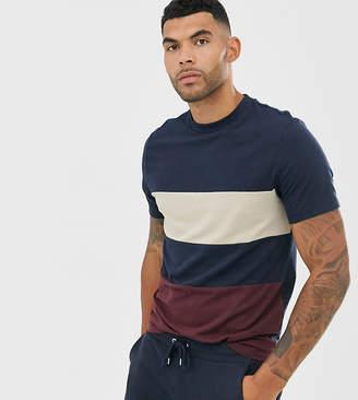 Asos Design DESIGN Tall organic t-shirt with body colour block in navy