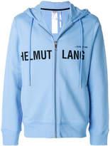 Helmut Lang logo print zip hoodie