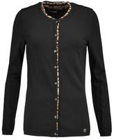 Roberto Cavalli Maglia Leopard-Print Stretch Silk-Trimmed Knitted Cardigan And Tank Set