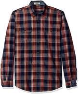 Tailor Vintage Men's Sunset Indigo Plaid Shirt
