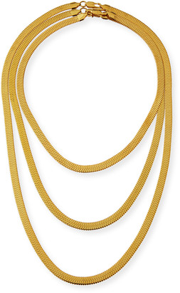 Fallon Triple Herringbone Necklace