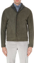 Richard James Button-down Shearling Bomber Jacket