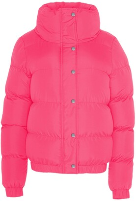 Brave Soul Ladies Short Puffer Jacket High Funnel Neck Winter Coat