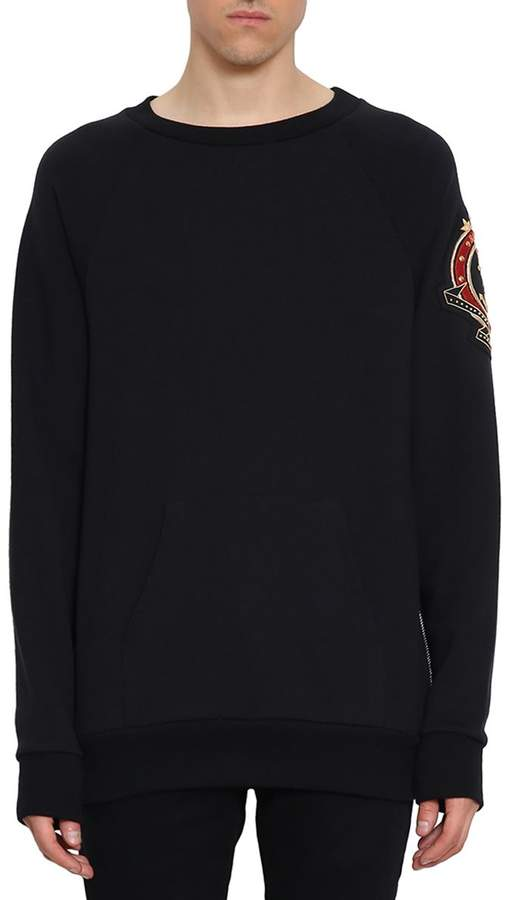Balmain Embroidered Cotton Sweatshirt