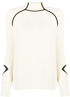 Pinko Knitted Ribbed Jumper