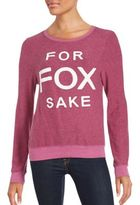 Wildfox Couture Scoopneck Long Sleeve Pullover