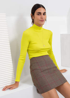 And other stories Houndstooth Mini Skirt