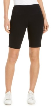 Calvin Klein Logo Stripe High-Waist Bike Shorts