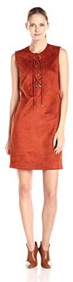 Sharagano Women's Faux Suede Shift Dress