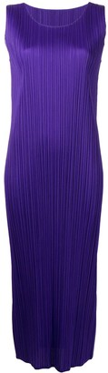 Pleats Please Issey Miyake December midi plisse dress