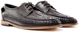 Hudson Anfa Calk Woven Lace Up Shoe Black