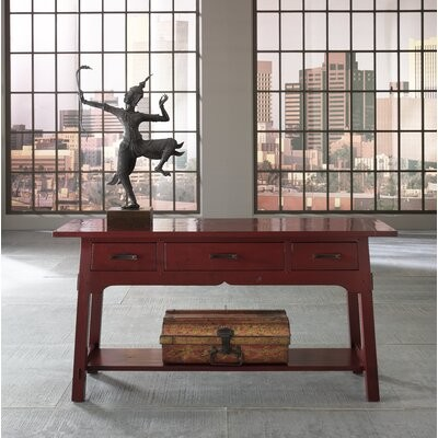 """Thumbnail for your product : MacKenzie-Dow 60"""" Console Table Color: Acanthus"""
