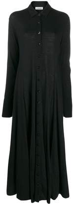 Jil Sander button-down maxi shirt dress