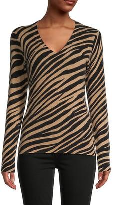 Saks Fifth Avenue Zebra-Print Cashmere Sweater
