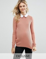 Asos Rib Sweater with Collar Detail