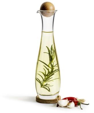 Sagaform Oval Oak Oil & Vinegar Bottle - glass