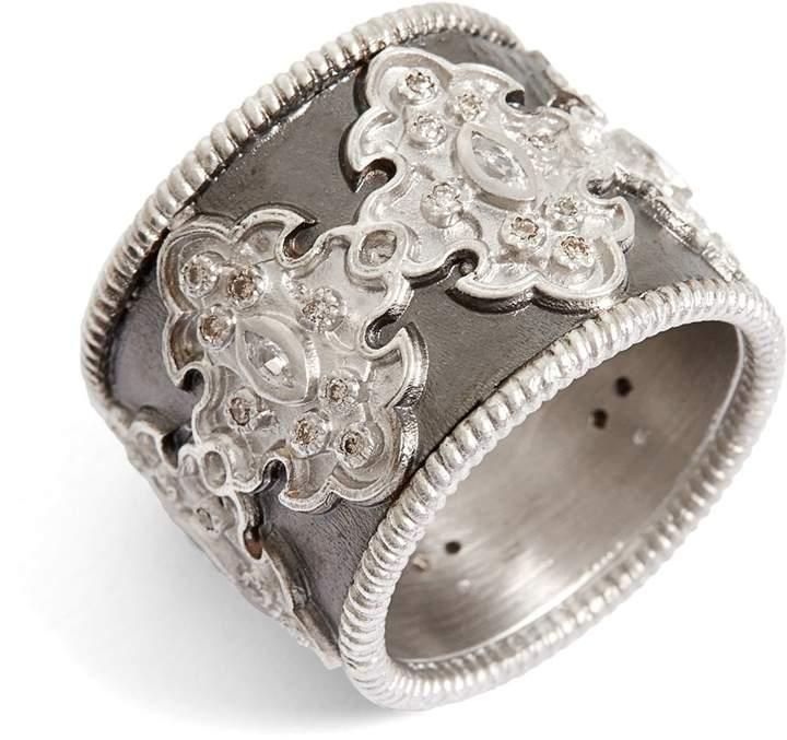Armenta New World Scroll Diamond Band Ring