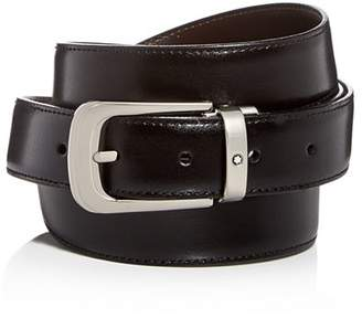 Montblanc Men's Palladium Horseshoe Buckle Reversible Leather Belt