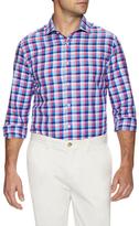 James Tattersall Check Print Dress Shirt