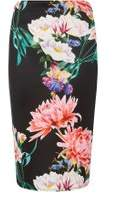Dorothy Perkins Womens Black Floral Pencil Skirt