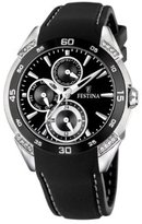 Festina Women's F16394/2 Stainless Steel with Ceramic Crystals Rubber Strap Watch