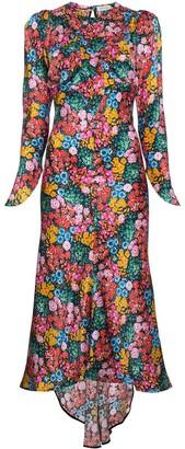 ATTICO The Floral Print Midi Dress