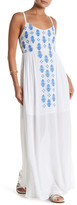 En Creme Embroidered Maxi Dress