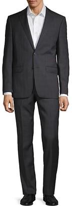 Calvin Klein Extra-Slim Fit Glen Plaid Wool Suit