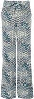 Equipment waves pattern wide-legged trousers - women - Silk - XS
